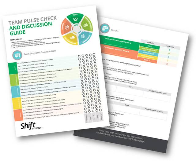 Manulife Shift Pulse Check Tool - Change Management
