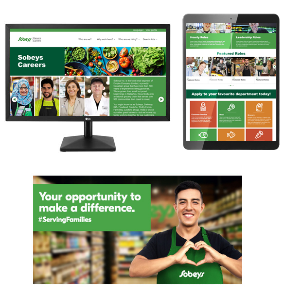 Sobeys Talent Attraction Campaign digital work samples