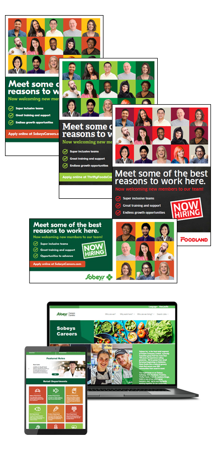 Sobeys Employer Brand and EVP work samples