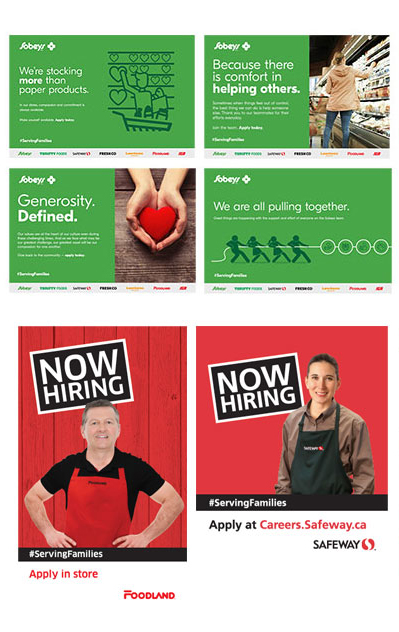 Sobeys Talent Attraction Campaign ad samples