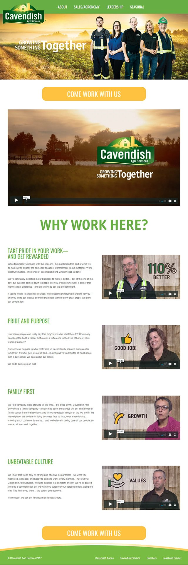Cavendish Agri Services Employer Brand Services Webpage