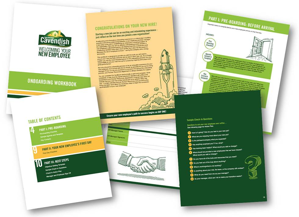 Cavendish Farms Orientation and Onboarding workbook
