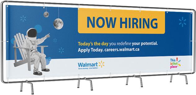 Walmart Talent Attraction Campaign billboard