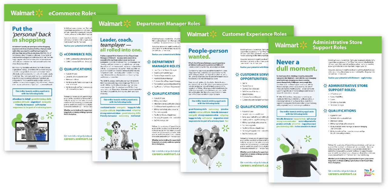Walmart Talent Attraction Campaign work samples