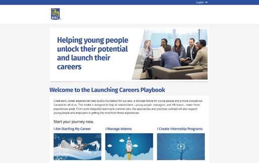 RBC Career Launch Program Website