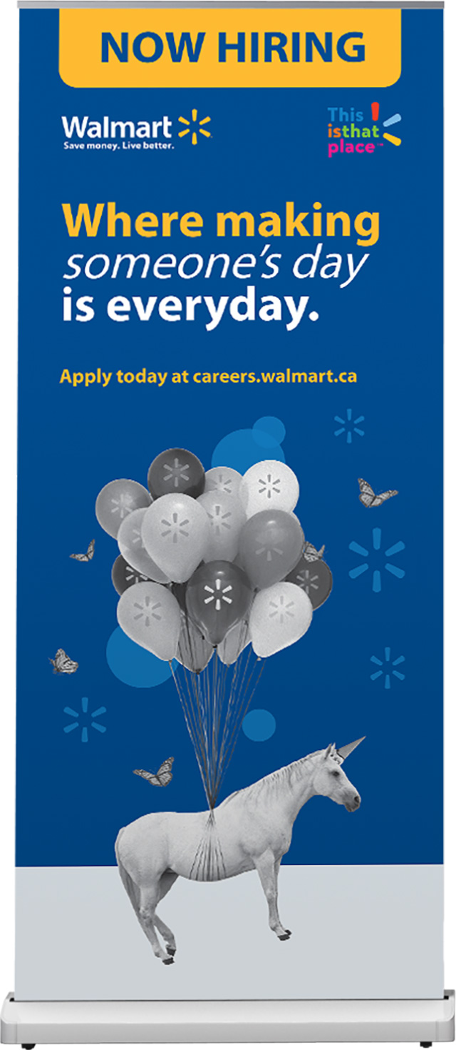 Walmart Talent Attraction Campaign roll-up banner