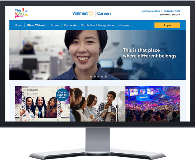 Walmart Talent Attraction Campaign career website